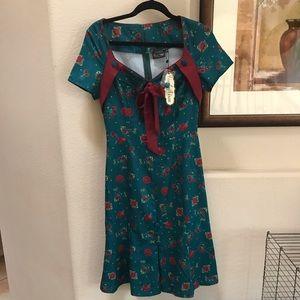 Voodoo Vixen Teal/Cherry Dress